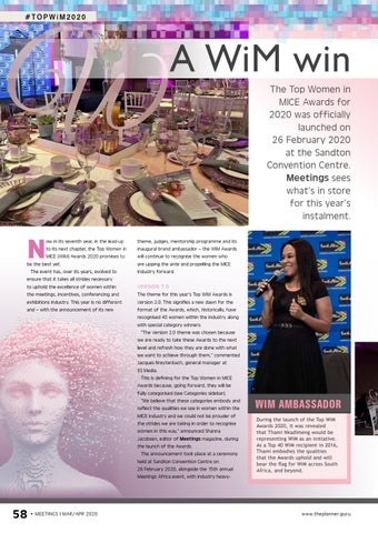 Page 60 of A WiM win The Top Women in MICE Awards for 2020 was
