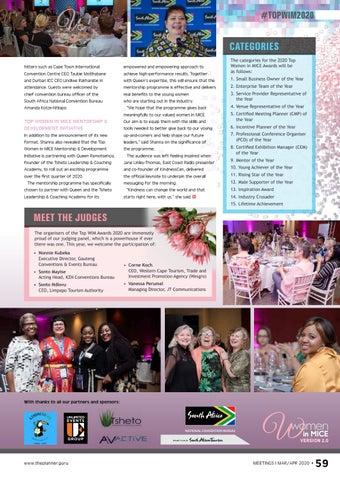 Page 61 of A WiM win The Top Women in MICE Awards for 2020 was