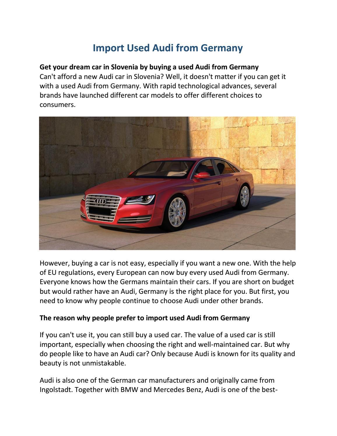 Import Used Audi From Germany By Avtonetnemcija Issuu