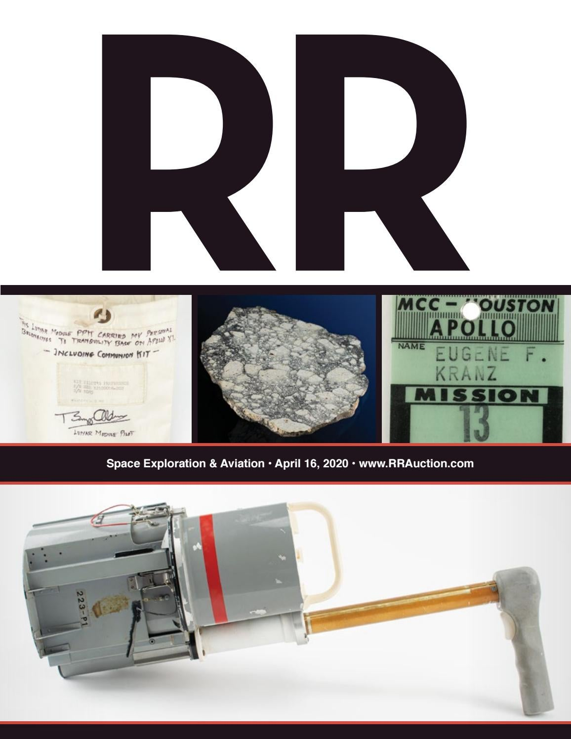 Rr Auction Space Exploration Featuring Apollo 13 By Rr Auction Issuu