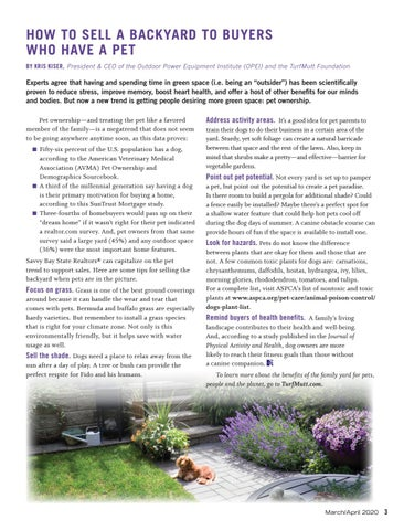 Page 5 of How to Sell a Backyard to Buyers who Have a Pet
