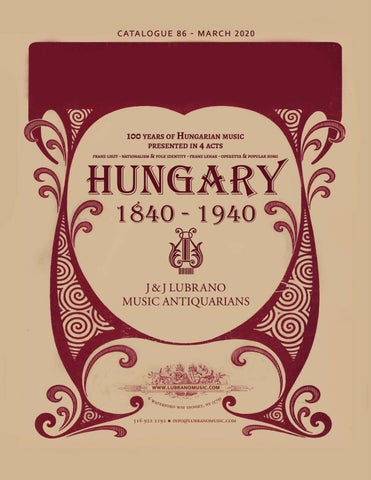 100 Years Of Hungarian Music By J J Lubrano Music Antiquarians Issuu