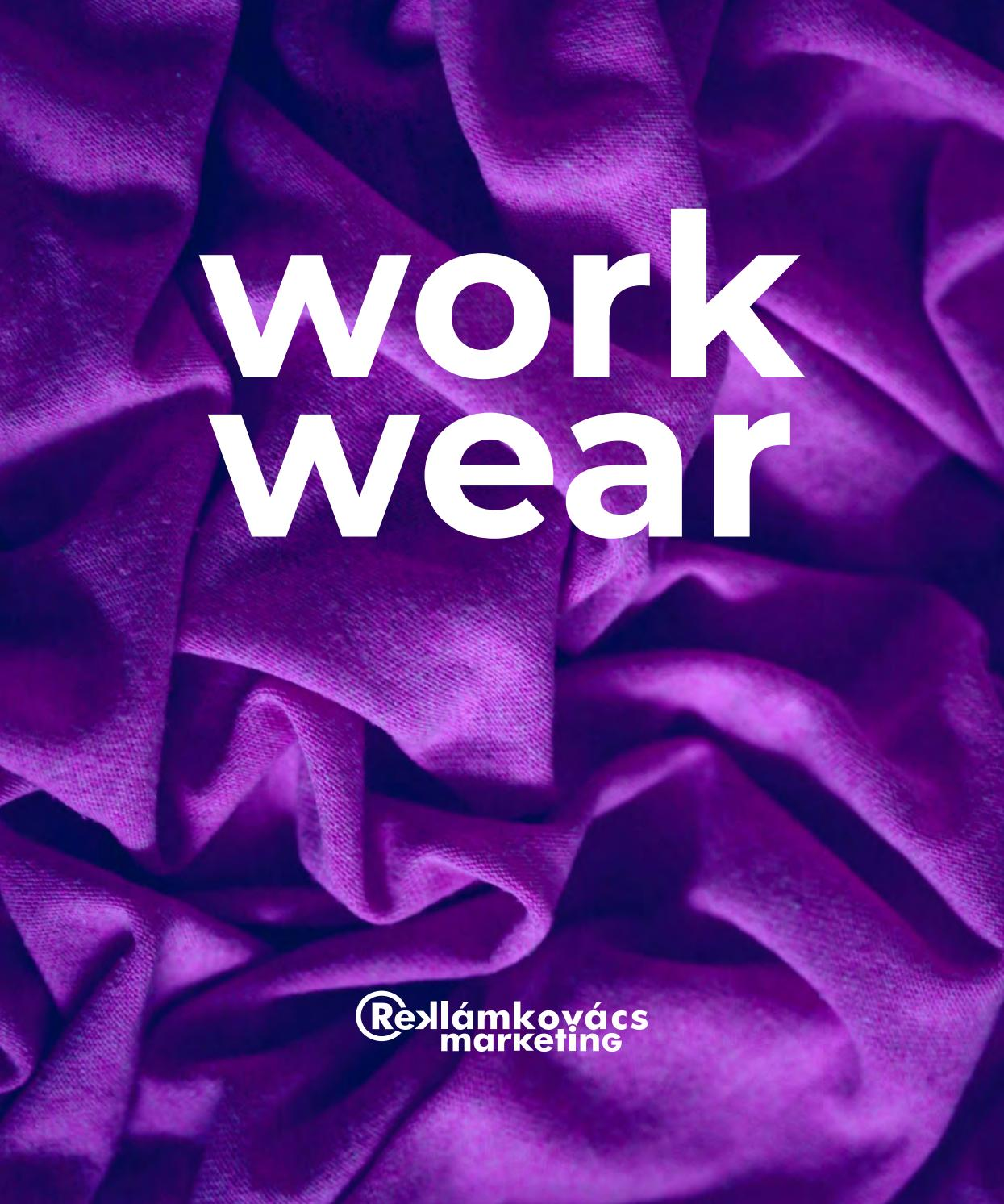 Reklamkovacs Marketing Workwear Katalogus 2020 By Reklamkovacs Marketing Issuu