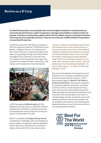 Page 6 of Revive as a B Corp