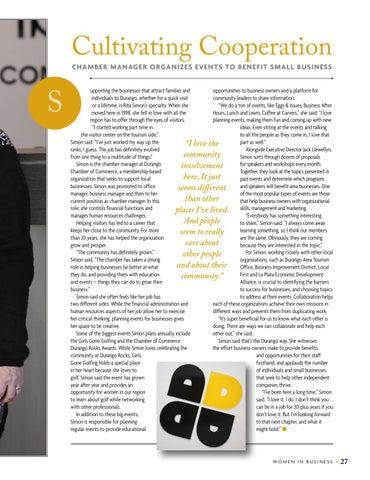 Page 29 of Rita Simon, Community Ambassador