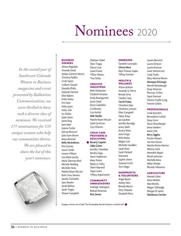 Page 38 of 2020 Nominees