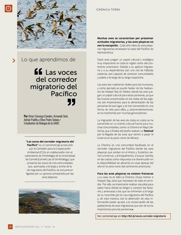 """Page 22 of Lo que aprendimos de """"Las voces del corredor migratorio del Pacífico"""""""