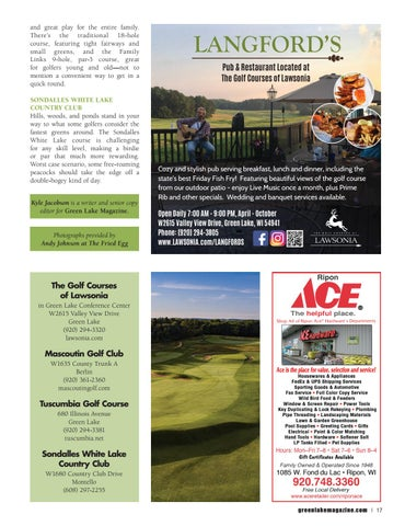 Page 17 of Golf Green Lake, Wisconsin