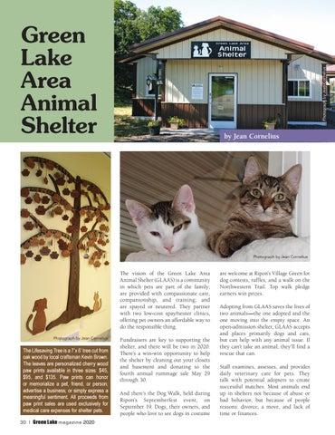Page 30 of Green Lake Animal Shelter