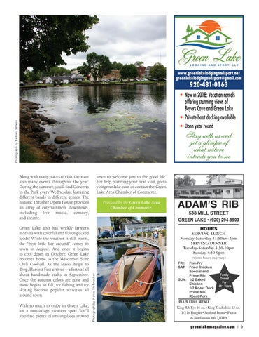 Page 9 of Green Lake the Good Life