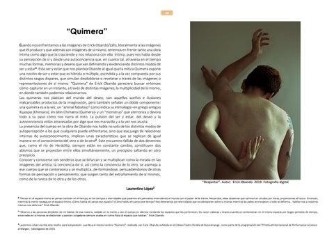 Page 28 of Quimera. Por Laurentino López
