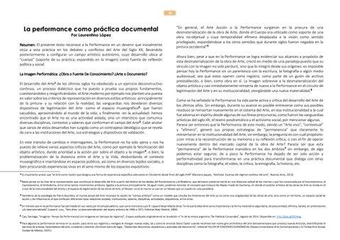 Page 30 of La performance como práctica documental Por Laurentino López