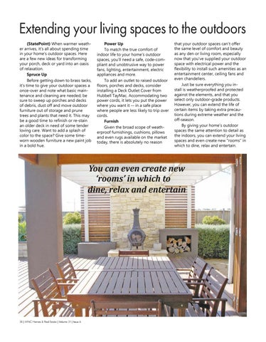 Page 38 of Extend your living spaces into the outdoors
