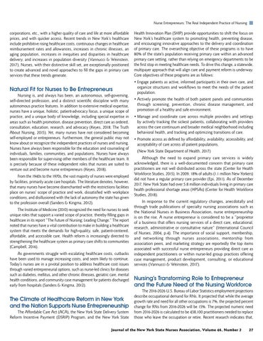 Page 29 of Nurse Entrepreneurs: The Real Independent Practice of Nursing by Carol Lynn Esposito, EdD, JD, MS, RN-BC, NPD; Lucille Contreras Sollazzo, BSN, RN-BC, NPD