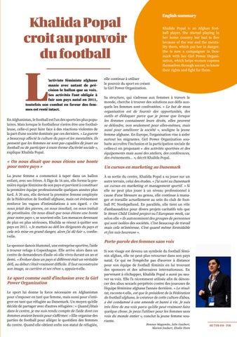 Page 35 of Khalida Popal croit au pouvoir du foot