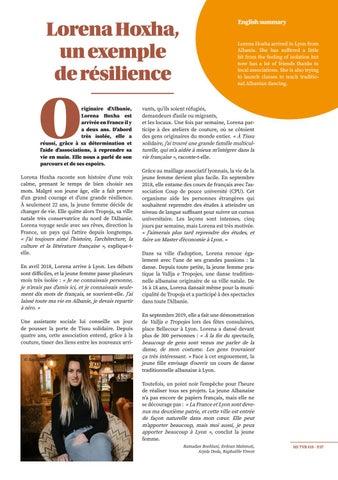 Page 37 of Lorena Hoxha, un exemple de résilience