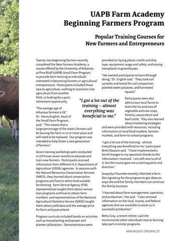 Page 41 of UAPB Farm Academy Beginning Farmers Program