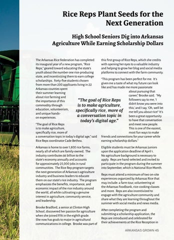 Page 49 of Rice Reps Plant Seeds for the Next Generation