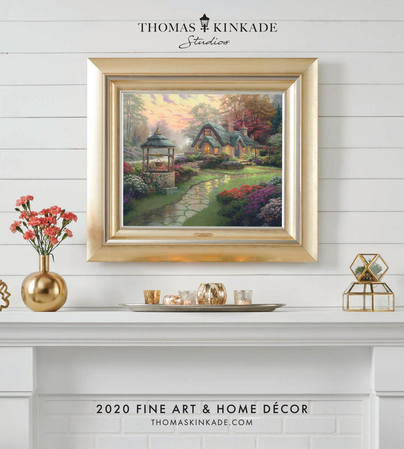 Set of 2 Thomas Kinkade Cottages 14 x 14 Gallery Wrapped Canvas