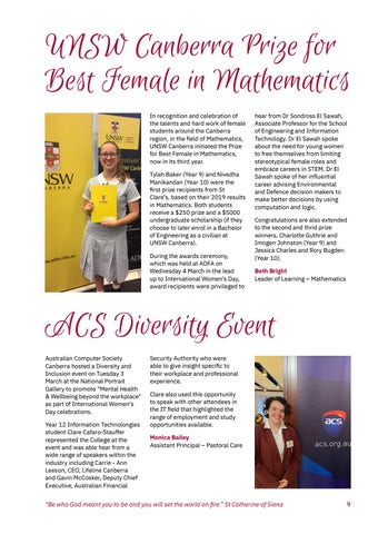 Page 11 of UNSW Best Female in Mathematics Award