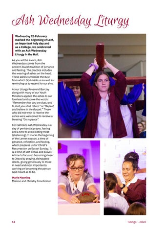 Page 16 of Ash Wednesday Liturgy