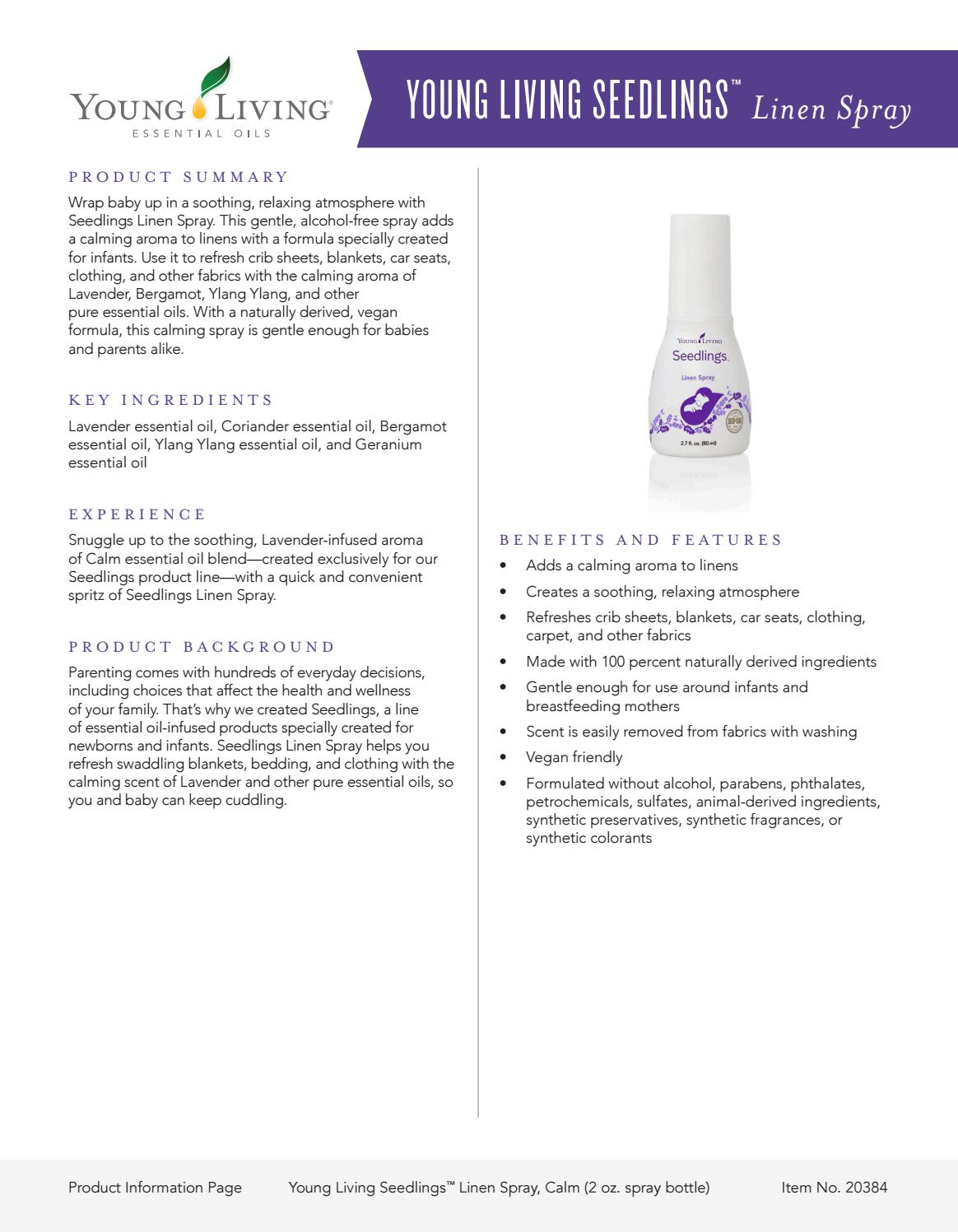 Young Living Seedlings Linen Spray By Divinejd Issuu