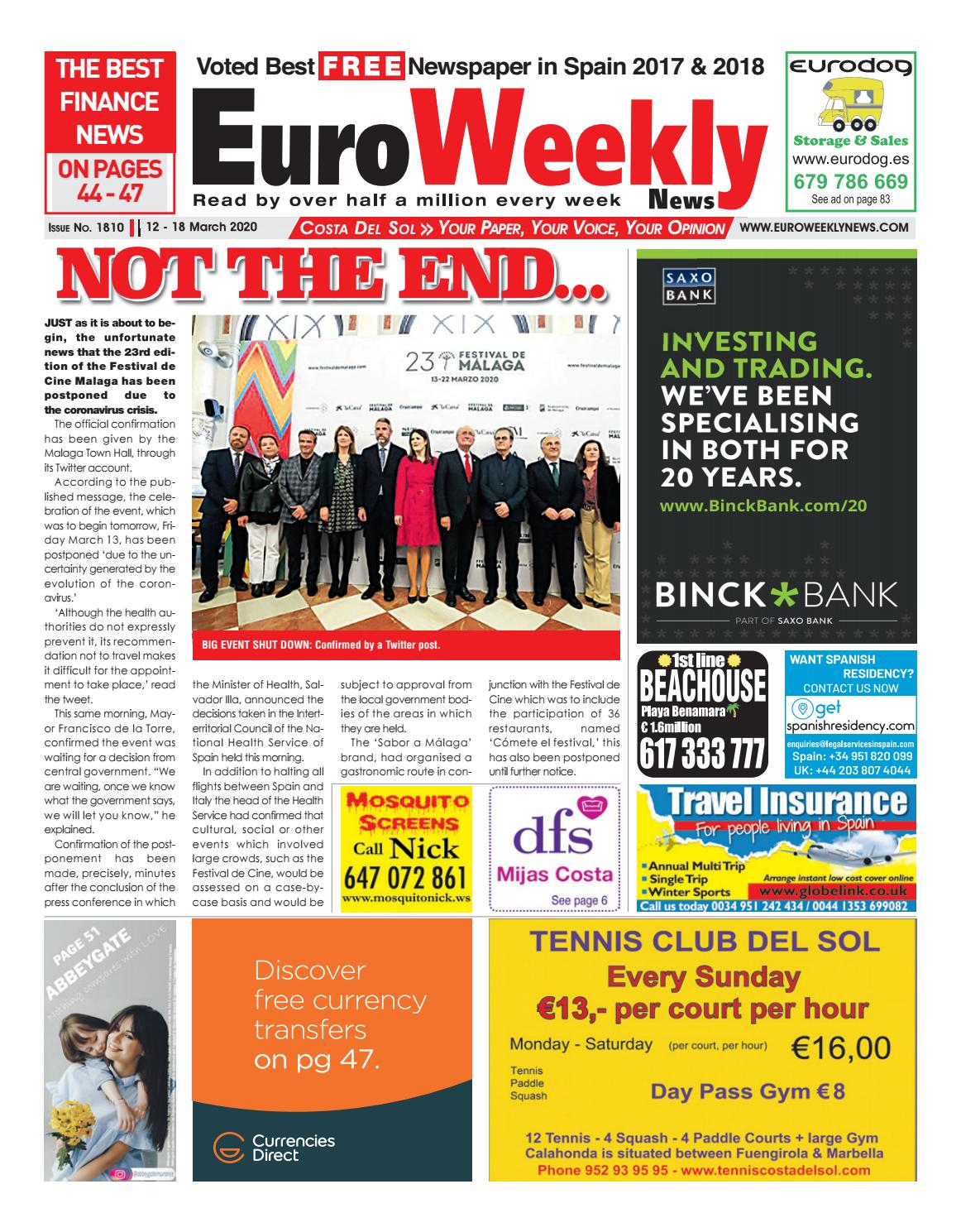 Euro Weekly News Costa del Sol 12 18 March 2020 Issue