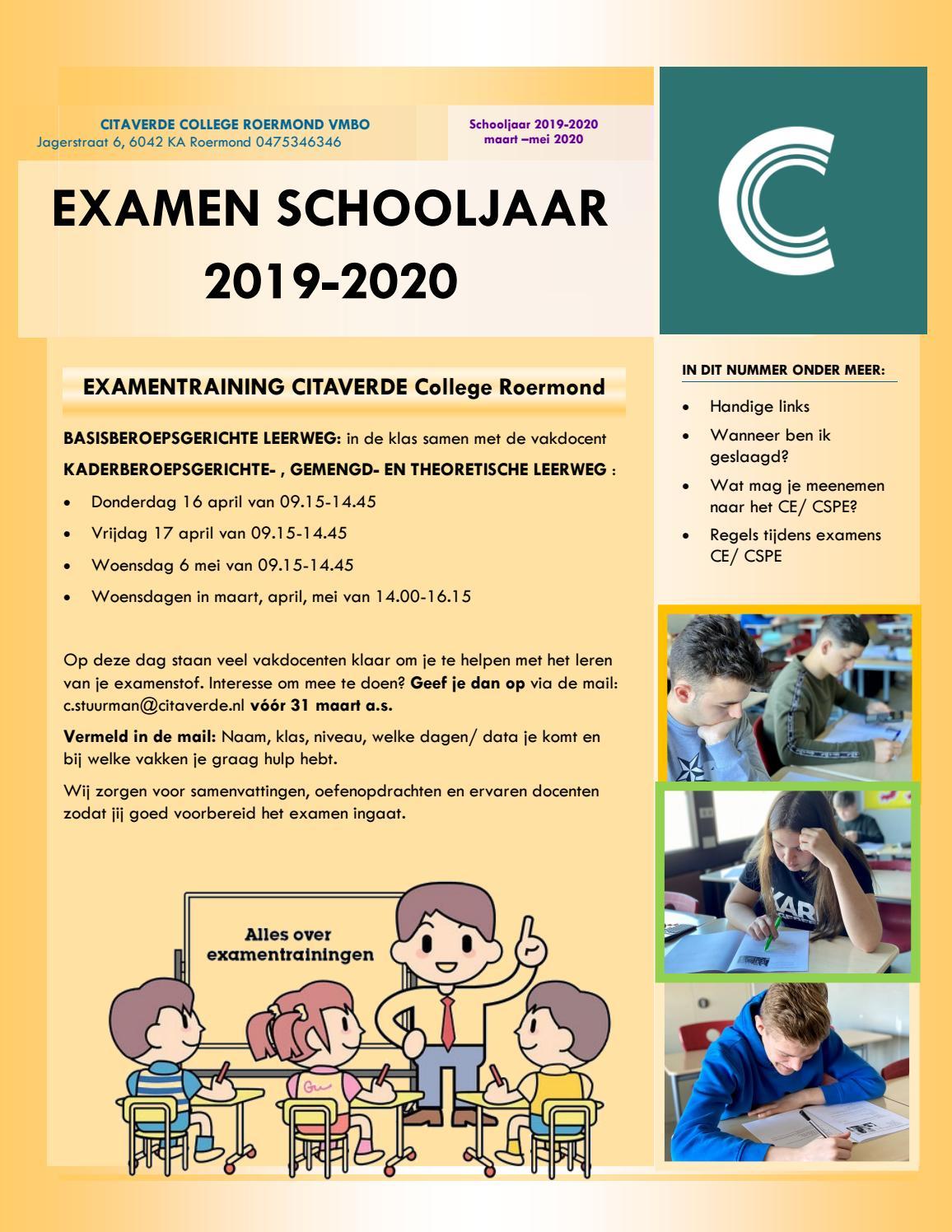 examenblad 2020