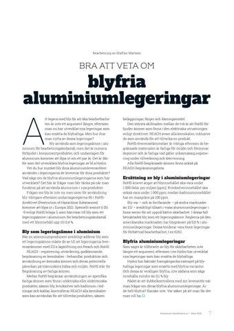 Page 7 of Bra att veta om blyfria aluminiumlegeringar