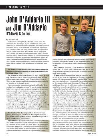 Page 32 of John D'Addario III and Jim D'Addario D'Addario & Co. Inc.