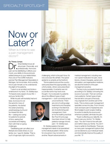 Page 18 of Now or later: When is it time to see a pain management doctor