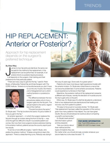 Page 19 of Hip replacement: Anterior or posterior?