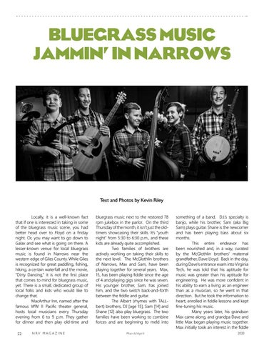 Page 22 of Bluegrass in Narrows