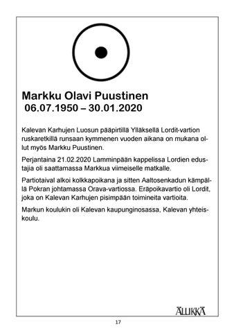 Page 17 of Muistokirjoitus Markku Olavi Puustinen