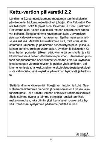Page 8 of Kettu vartion päiväretki