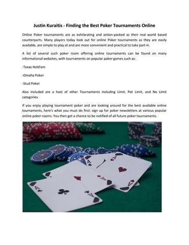 Justin Kuraitis Finding The Best Poker Tournaments Online By Justin Kuraitis Issuu