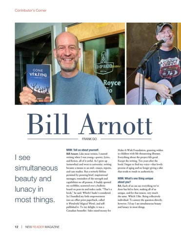 Page 12 of Contributor's Corner (Poetry): Bill Arnott