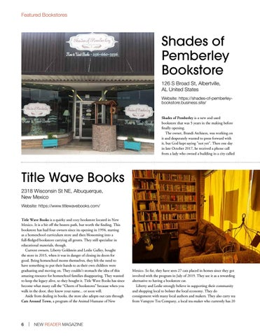 Page 6 of Shades of Pemberley Bookstore Title Wave Books Chapter2Books