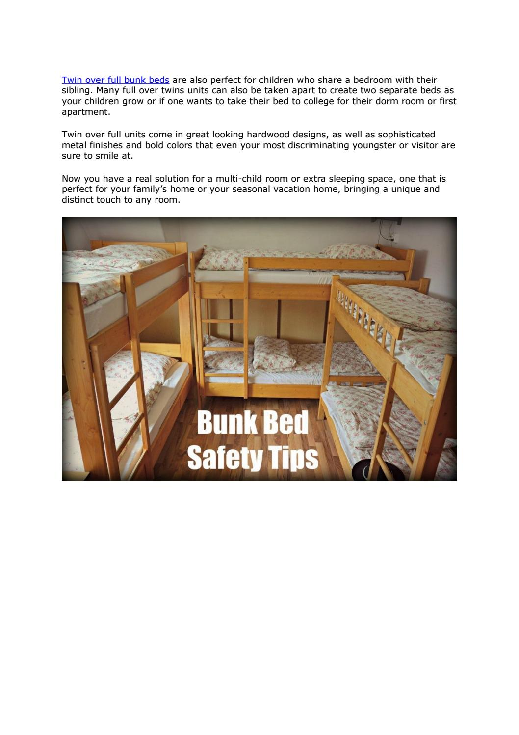 Picture of: Twin Over Full Bunk Beds Http Lshapedbunkbed Com By L Shaped Bunk Bed With Stairs Issuu