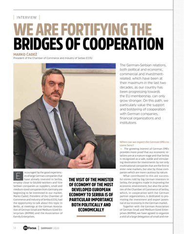 Page 14 of WE ARE FORTIFYING THE BRIDGES OF COOPERATION