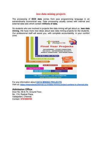 Ieee Data Mining Projects By Hari Prasad Issuu
