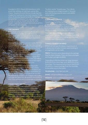 Page 15 of Mount Kili Adventures Ltd
