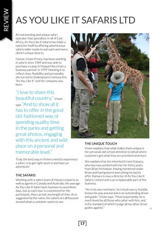 Page 17 of As You Like It Safaris Ltd