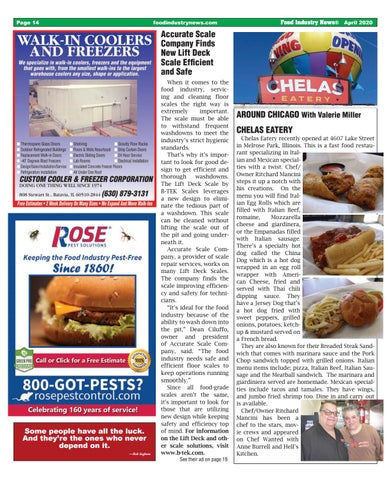 Page 14 of AROUND CHICAGO: CHELAS EATERY
