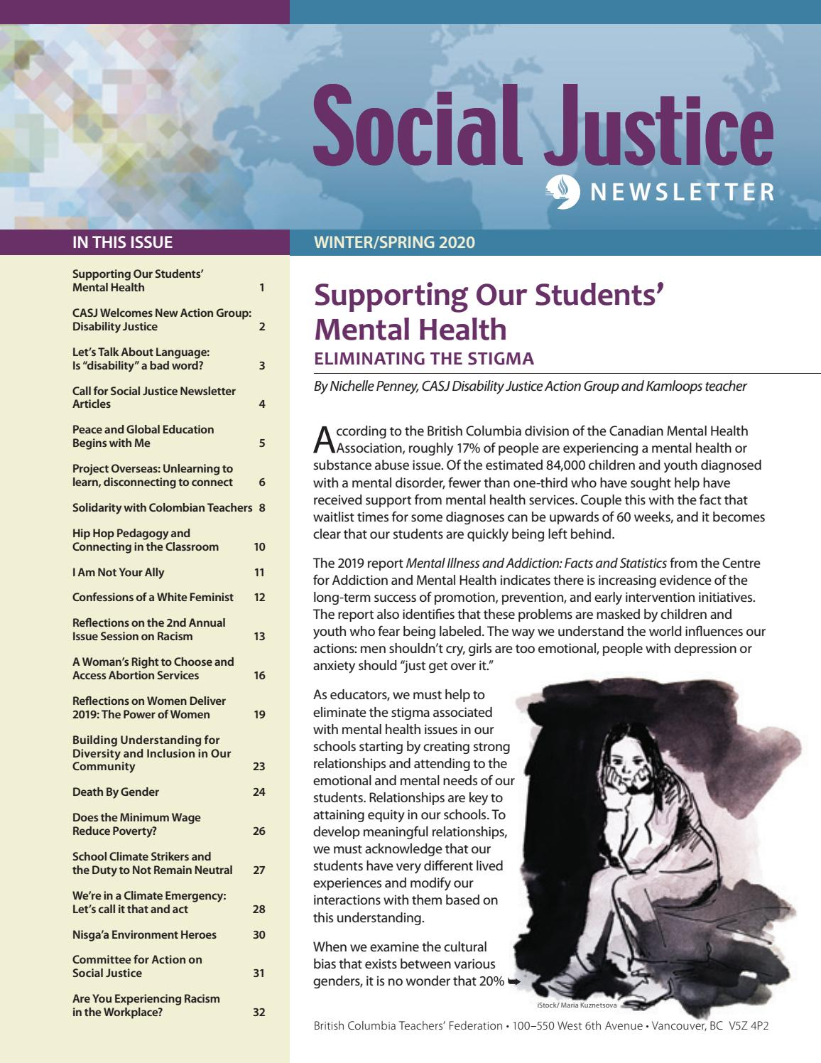 Bctf Social Justice Newsletter Winter Spring 2020 By Bc Teachers Federation Issuu
