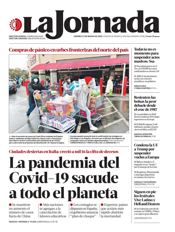 Amables Antes La Vecina la jornada, 03/13/2020la jornada - issuu