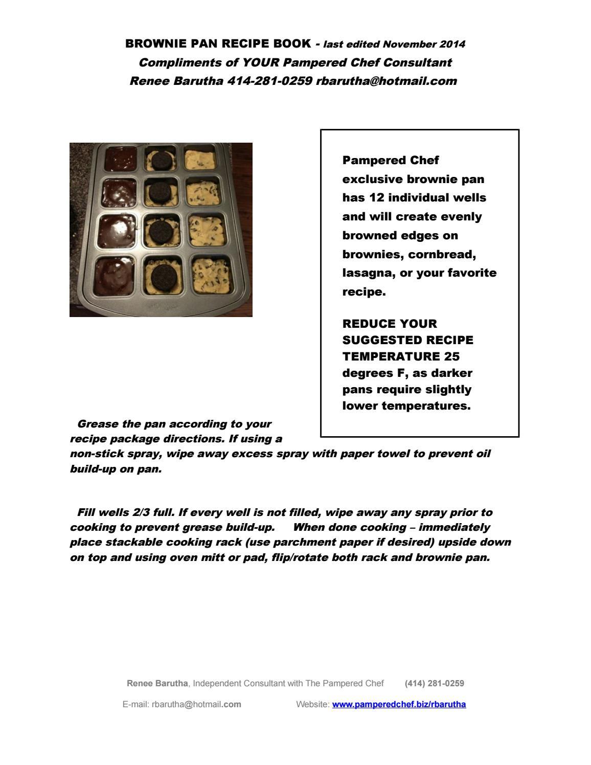 Brownie Pan Recipes By Renee Issuu
