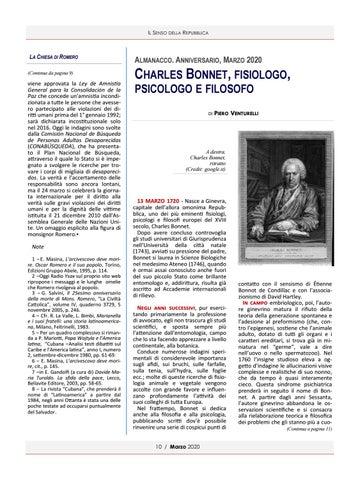 Page 10 of ALMANACCO. CHARLES BONNET FISIOLOGO PSICOLOGO E FILOSOFO