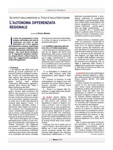 Page 4 of L'AUTONOMIA DIFFERENZIATA REGIONALE DI PAOLA MORIGI