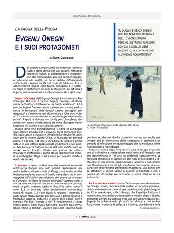 Page 7 of EVGENIJ ONEGIN E I SUOI PROTAGONISTI DI SILVIA COMOGLIO
